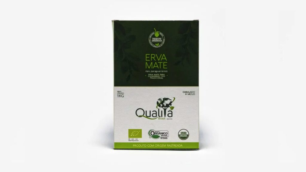 Embalagem da erva-mate Qualitá para Chimarrão. Foto frontal.