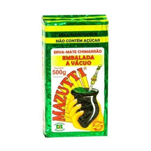 mostrar o produto erva-mate mazutti 500 gramas embalado a vácuo