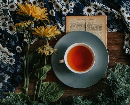 chá de hibisco em xícara branca