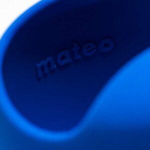Foto em detalhe da Mateo na parte interna da cuia, fabricante da marca da cuia azul.